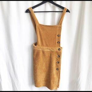 Topshop mustard corduroy velvet dress jumper